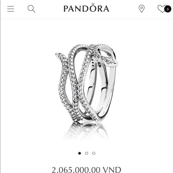 "3523b700e8a7d FINAL PRICE! Pandora ""Swirling Snake"" Ring"